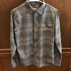 Zoo York Grey Stripe Button Down Shirt - Small